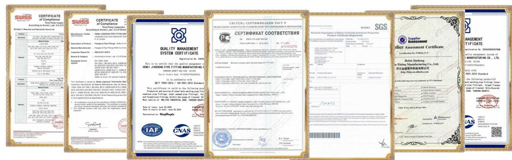 certificates of JS FITTINGS