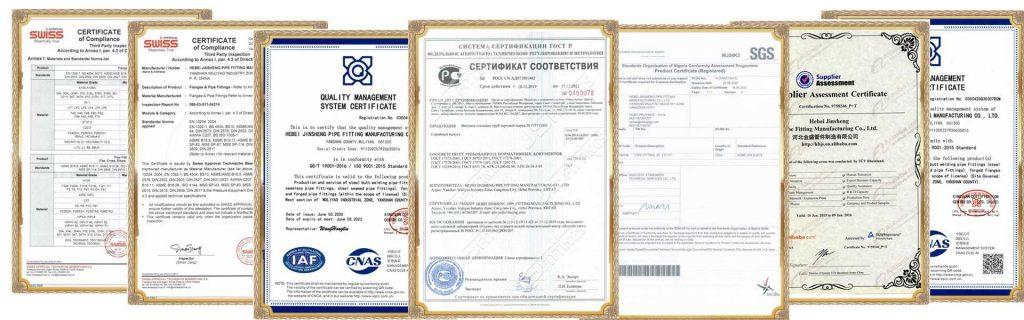 сертификаты JS FITTINGS