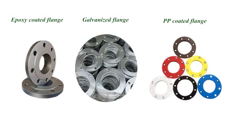 Special coated flange